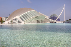 Valencia - City of Arts and Sciences 74 hdr (Romeodesign) Tags: bridge santiago water valencia museum architecture modern spain arch calatrava hdr ciudaddelasartesylasciencias lhemisfric lumbracle flixcandela cityofartsandsciences 550d elmuseudelescinciesprncipefelipe puentedemonteolivete elpontdelassutdelor pontlassutlor
