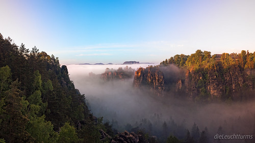 Fog above Saxon Switzerland