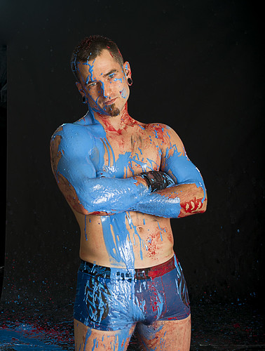 Hot guy in paint