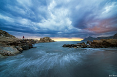 The Fisherman (Legi.) Tags: sunset atardecer fisherman nikon tokina cartagena 116 pescador marmediterráneo d600 portmán launión playadellastre