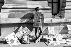 Queer Person of Colour (Silver Machine) Tags: london prideinlondon lgbtpride2016 streetphotography street streetportrait candid girl protest placard standing fujifilm fujifilmxt10 fujinonxf35mmf2rwr