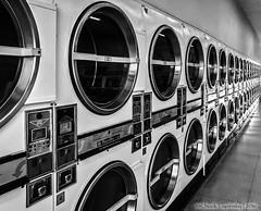 Too Many (chuckl2432) Tags: digitalphotography chucklapinsky apple iphone iphoningaround urban urbanimagery blackandwhite bw mono monochrome machinery laundry urbex vanishingpoints sandiego california usa 840