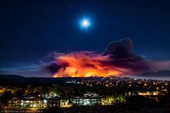 The Sand Fire (dejavue.us) Tags: california nightphotography nikon d800 fullmoon nikkor fire canyoncountry santaclarita