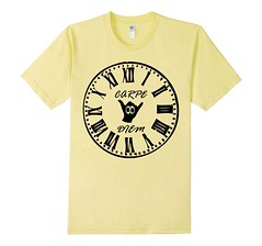 Carpe Diem Black Ink Yellow T-Shirt (Saggio Designs) Tags: different live tshirt your passion designs success determination persistence saggio individuality perfectly