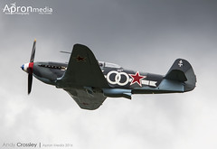 G-OLEG   Private   Yak 3M (Andy Crossley - Apronmedia.com) Tags: aviation vector airplane airshow flight aircraft vintage plane travel retro propeller illustration tour stamp isolated sky pilot label emblem badge fly air transport wing logo tourism airfield aviator graphic seal aerial symbol academy banner training biplane old silhouette design classic school sticker transportation set engine sign small military show light