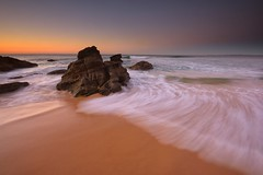 Redhead Rocks (Paul Hollins) Tags: aus australia newsouthwales redhead nikond750 nikon1635mmf4 seascape rocks ocean shore sand watermovement