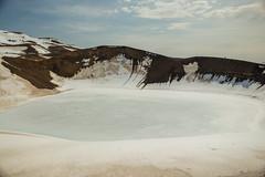 Krafla Viti Crater 03 (sarahmonious) Tags: kraflaviticrater kraftla viti myvatn kraftlavolcano volcanocrater crater hverir snow route1iceland route1 ringroad iceland iceland2016 icelanding2016 traveling
