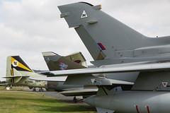 Gannet, Mirage & Tornado Tails (Ronnie Macdonald) Tags: ronmacphotos yorkairmuseum rafelvington aircraft gannet xl502 mirage tornado xz631