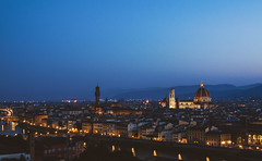 Florence Almost Morning (Bass Is The Best) Tags: florence firenze italy tuscany view scenery city wideshot morning dawn lights historical history art duomo arno river