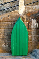 Pea-green boat (jeremyhughes) Tags: edwardlear nurseryrhyme theowlandthepussycat peagreenboat peagreen malta stpaulsbay boat dinghy rowboat tender rowingboat nautical sanpawlilbaħar green composition stone wharf waterfront railings stairs steps stonebuilt stonework sea nikon d750 nikkor 35mm 35mmf2d