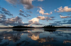 'Same Old, Same Old' (Canadapt) Tags: sunset lake reflection island clouds x keefer canadapt
