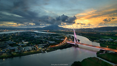 (szintzhen) Tags:             sunset sunglow cloud sky river light bridge taipeicity taiwan