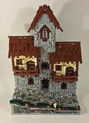 The Streets of Llydel (dzambito42) Tags: lego castle cobblestone road village