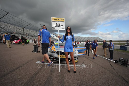 Sam Tordoff on the grid at Rockingham, August 2016