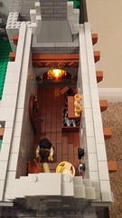 Updated Kitchen (reztam) Tags: lego kitchen fireplace lighted modular moc castle