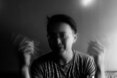 encounters. (jonathancastellino) Tags: portrait abstratc leica friend face light motion series ghostly