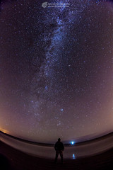 Contemplating the vastness of it all (mythicalireland) Tags: milkyway stars nightsky star bright universe cosmos stargazing observing astronomy beach sea clogherhead louth ireland landscape night
