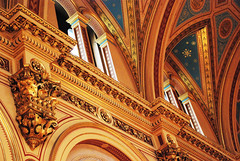 DSC_6946 [ps] - Cornicecopia (Anyhoo) Tags: anyhoo photobyanyhoo fco foreignoffice whitehall westminster london england uk interior grandeur golden gilt gilding fo ornate design corbel vault arch neogothic arc heavens stars