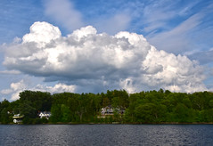Mansions on Lake Memphremagog (dionepsoc) Tags: magog quebec canada lakememphremagog mansions bluesky whiteclouds clouds