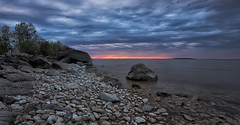 As Advertised (Jim.J.H) Tags: lakewinnipeg shoreline clouds sunset sunsetbeach heclaisland gullharbour
