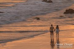 Two (Connar L'Ecuyer) Tags: socal beach landscape sunset cloud ocean clouds goldenhour cloudy malibu elmatador rocks