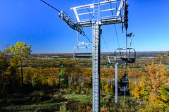 the chair lift (contemplative imaging) Tags: horizon autumn sunny natural nikon american nature day midwestern hill photos dslr geology contemplativeimaging photography 2016fall d7000 granitepeakskiarea centralwisconsin photo bw wisconsindnr october forest geological view wisc america wi ronzack midwest trees ciwisc20161009d7000 cool clear chairlift 20161009 colorful marathoncounty sunday wausau digital ribmountainstatepark wisconsin cpl park usa ribmountain skilift mountain atx1228prodx tokinaaf1228mmf4
