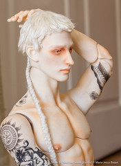 Fotitos del maquillaje de Alexandr (parfait_poupee) Tags: bjd doll abjd male dollshe craf dollshecraft david kuncci davidkuncci rude tatoo custom