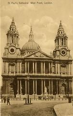 1905 London (Steenvoorde Leen - 2.3 ml views) Tags: londen london 1905 ansichtkaart postkaart postcards postkarte karte card stpaulscathedral great britain gb england