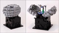 Dragonfly (JK Brickworks) Tags: lego art sculpture kinetic hands dragonfly