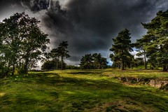Moody looking sky at Beeston Castle (21mapple) Tags: beeston castle beestoncastle englishheritage england english eh heritage ruins landscape trees hdr outdoors outside outdoor old out blue grey clouds cloudy sky green grass
