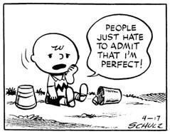 Perfect (Tom Simpson) Tags: peanuts charliebrown nobodysperfect comics newspapercomics comicstrip 1952 1950s art illustration