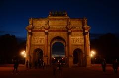 Arc de Triomphe du Carrousel, Paris (martin_19_88) Tags: arc de triomphe du carrousel paris france monument blue hour french dusk