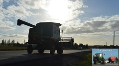harvester on the highway (Kennuth) Tags: canadian highways princeedwardisland farmmachinery