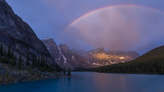 Spanning the Peaks (Ken Krach Photography) Tags: lakemoraine rainbow