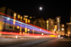 Moon lit Southampton (stevemiller888) Tags: moon abstract lighttrails citylights city night
