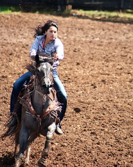 Here I come (darioriano) Tags: speed fast rodeo girl horse control pretty sexy ranch cowgirl rider