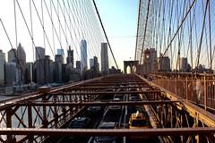 Invisable path in everyone's view (Lidiya Nela) Tags: sunset bridge city nyc newyorkcity newyork urban skyline manhattanskyline brooklynbridge