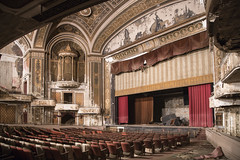 Palace Theater (www.vanishingnewengland.com) Tags: theater stage curtain old abandoned new england vanishing history show play opera hotel elegant