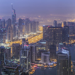 Dubai Marina (Waheed Akhtar Photography) Tags: dubai marina dubaimarina dxb mydubai uae unitedarabemirates travel canon canon6d building buildings architecture city skyline dubaiskyline fromthetop long exposure longexposure waheedakhtar