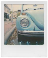 Record Shopping (tubes.) Tags: volkswagen beetle minneapolis minnesota polaroid polaroidweek impossibleproject instant instantfilm film