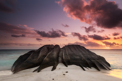 The rock (Ramn Menndez Covelo) Tags: digue seychelles rock indian ocean sunset beach seascape waterscape landscape horizontal outdoors nobody holidays destination travel tourism honeymoon pleasure trip exotic tropical location vacation island idilic romantic paradise eden