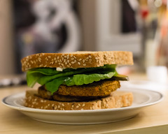 Veggie Burger (beandrinking) Tags: food bread yummy burger foodporn vegetarian vegtables veggies nomnomnom