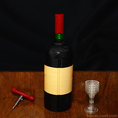 Wine Bottle (bruceywan) Tags: glass screw bottle lego wine cork photostream cabernet sauvignon moc ib3 ironbuilder brucelowellcom ibbl3