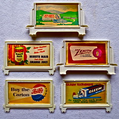 1940s & 1950s Vintage Toy Train Set Advertisements (Christian Montone) Tags: railroad illustration ads toys graphics trains 1940s 1950s billboards midcentury toytrains vintageads