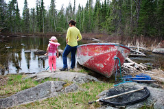 Gwyneth and Rhian at Hatchet Portage (Blu, Enid) Tags: