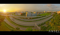 PIEWAY (draken413o) Tags: sunset panorama streets pie drive singapore view bend unique cityscapes expressway roads hdr sims
