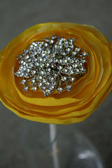 Bridesmaid Flowers (rbkcreations) Tags: pink blue wedding orange green yellow bride turquoise brooch bridesmaid bouquet lime bling satin alternative organza boutonniere buttonbouquet rbkcreations broochbouquet