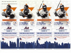 Unsevered page of tickets from 2013 New York Mets season ticket holders' ticket booklet includes tickets for Mets games of May 21 and May 22 v. Cincinnati (Gary Dunaier) Tags: newyorkcity baseball stadiums queens mets queensborough newyorkmets queensboro ballparks flushing williemays stadia queenscounty jerrygrote citifield