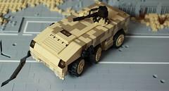 Boxdog APC (✠Andreas) Tags: lego military apc armoredpersonnelcarrier thepurge legoapc legoarmoredpersonnelcarrier thepurgeusa legocamoapc legodesertapc