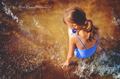 (Krista Cordova Photography) Tags: lake beach water girl kids children sand sister lakemichigan littlegirl cutekids blueswimsuit sittinginwater